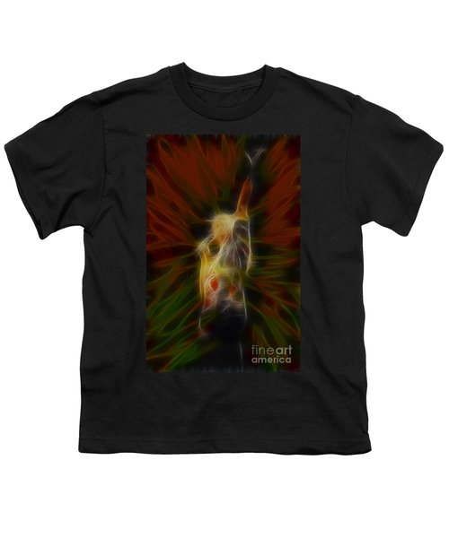 Def Leppard-adrenalize-joe-gb22-fractal Youth T-Shirt by Gary Gingrich Galleries