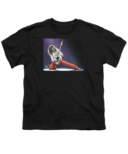 Eddie Van Halen Youth T-Shirt by Tom Carlton