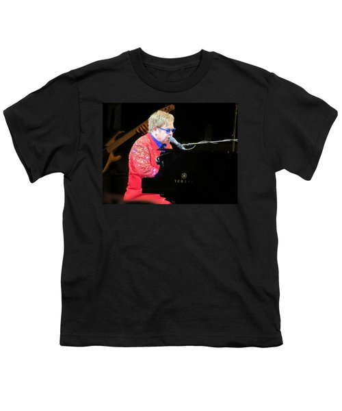 Elton John Live Youth T-Shirt by Aaron Martens