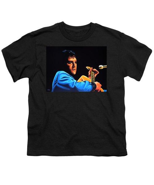 Elvis Presley 2 Painting Youth T-Shirt by Paul Meijering