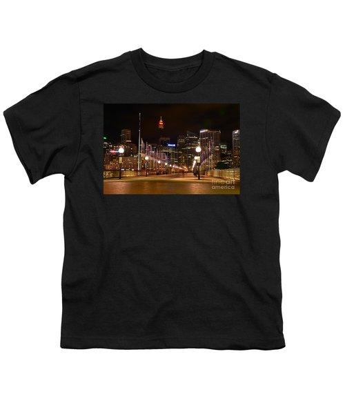Foot Bridge By Night Youth T-Shirt by Kaye Menner