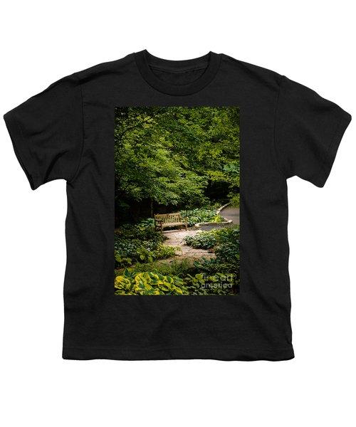 Garden Bench Youth T-Shirt by Joe Mamer