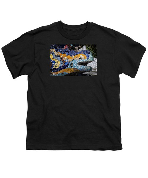 Gaudi Dragon Youth T-Shirt by Joan Carroll