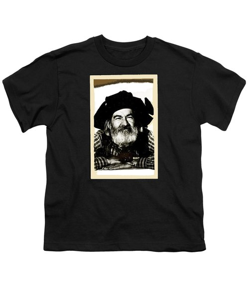 George Hayes Portrait #1 Card Youth T-Shirt by David Lee Guss