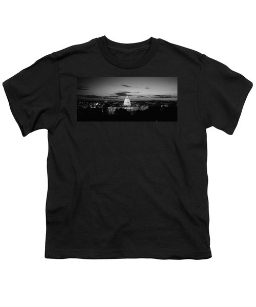 Government Building Lit Up At Night, Us Youth T-Shirt by Panoramic Images