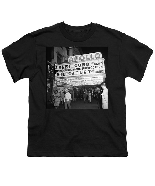 Harlem's Apollo Theater Youth T-Shirt by Underwood Archives Gottlieb