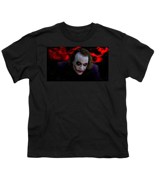 Heath Ledger As Joker Youth T-Shirt by Image World