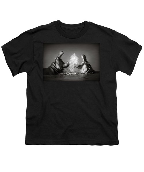 Hippo's Fighting Youth T-Shirt by Johan Swanepoel