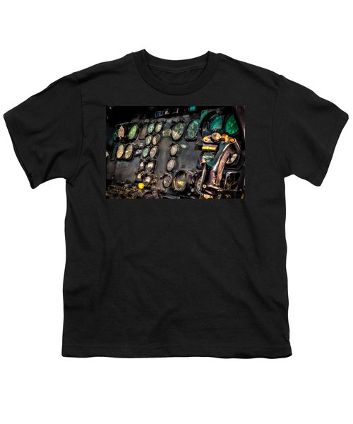 Huey Instrument Panel Youth T-Shirt by David Morefield