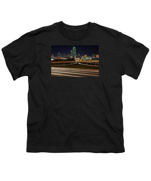 I-35e Dallas Youth T-Shirt by Rick Berk