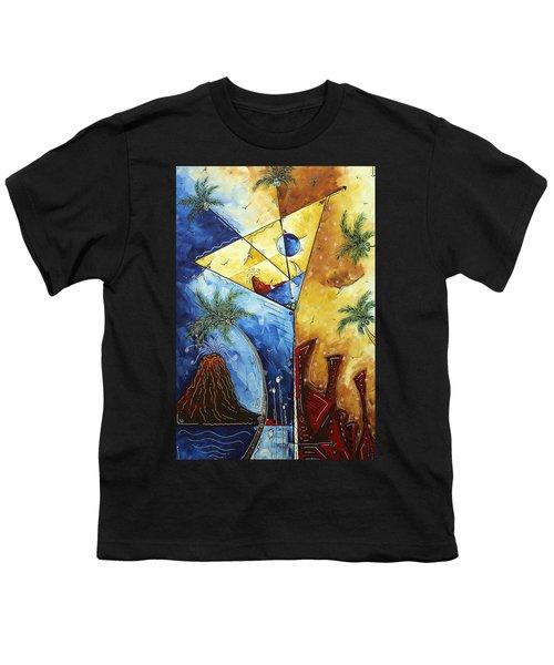 Island Martini  Original Madart Painting Youth T-Shirt by Megan Duncanson