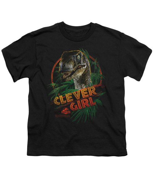 Jurassic Park - Clever Girl Youth T-Shirt by Brand A