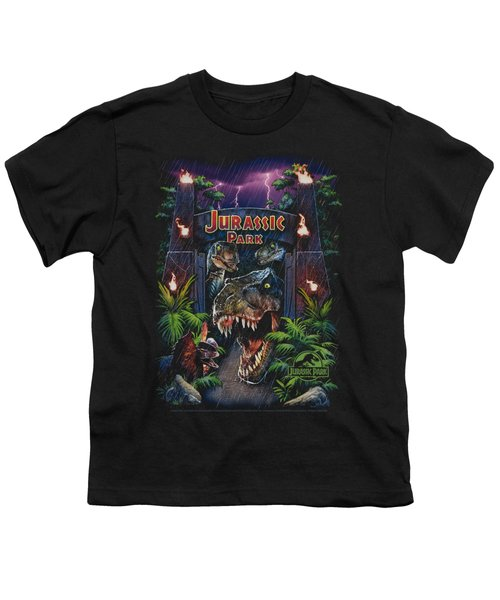 Jurassic Park - Welcome To The Park Youth T-Shirt by Brand A