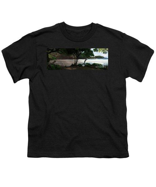 Koki Beach Hana Maui Hawaii Youth T-Shirt by Sharon Mau