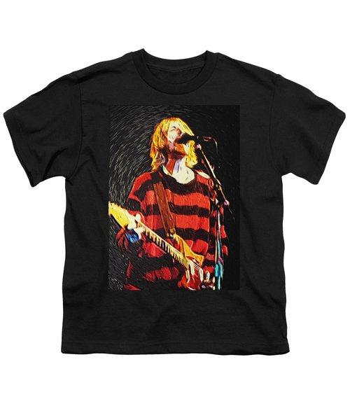 Kurt Cobain Youth T-Shirt by Taylan Apukovska