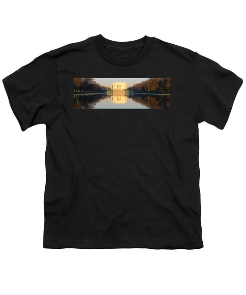 Lincoln Memorial & Reflecting Pool Youth T-Shirt by Panoramic Images