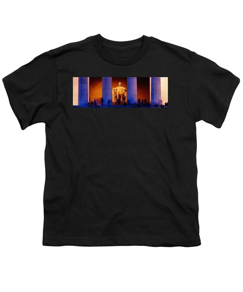 Lincoln Memorial, Washington Dc Youth T-Shirt by Panoramic Images