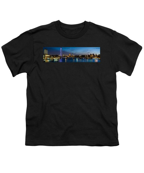 London Eye And Central London Skyline Youth T-Shirt by Panoramic Images