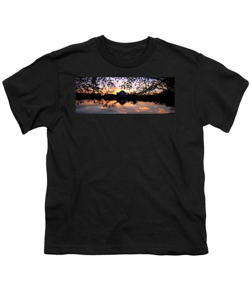 Memorial At The Waterfront, Jefferson Youth T-Shirt by Panoramic Images