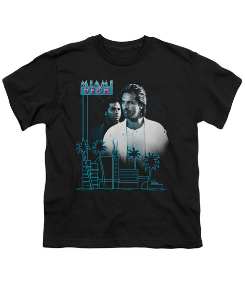 Miami Vice - Looking Out Youth T-Shirt by Brand A