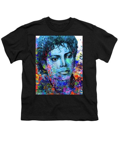 Michael Jackson 14 Youth T-Shirt by Bekim Art