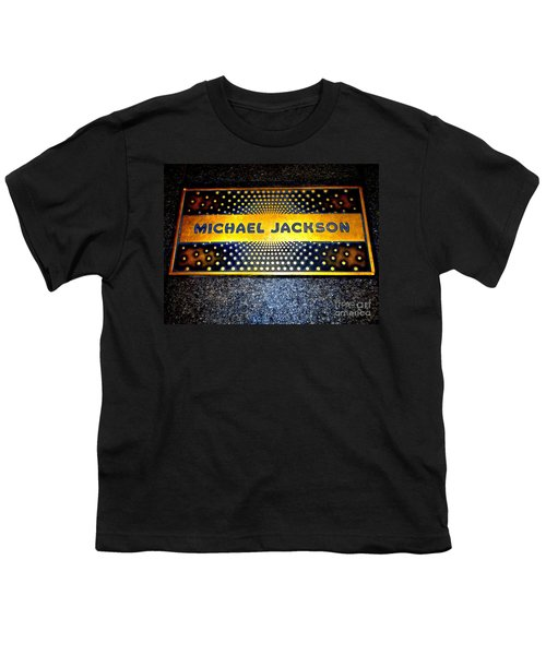 Michael Jackson Apollo Walk Of Fame Youth T-Shirt by Ed Weidman