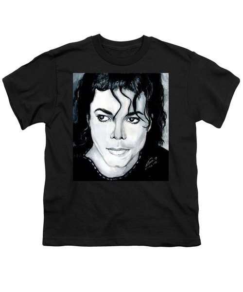 Michael Jackson Portrait Youth T-Shirt by Alban Dizdari