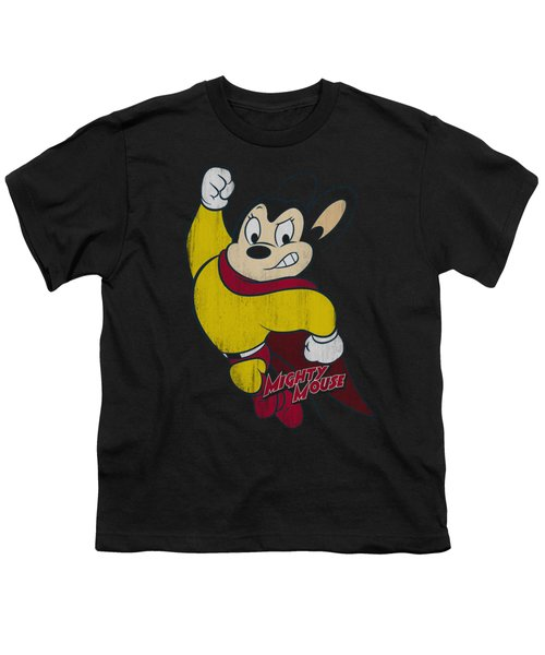 Mighty Mouse - Classic Hero Youth T-Shirt by Brand A