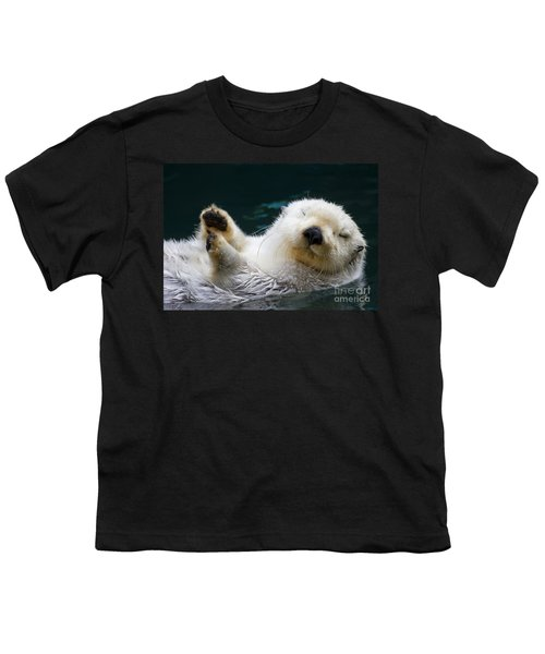 Napping On The Water Youth T-Shirt by Mike  Dawson
