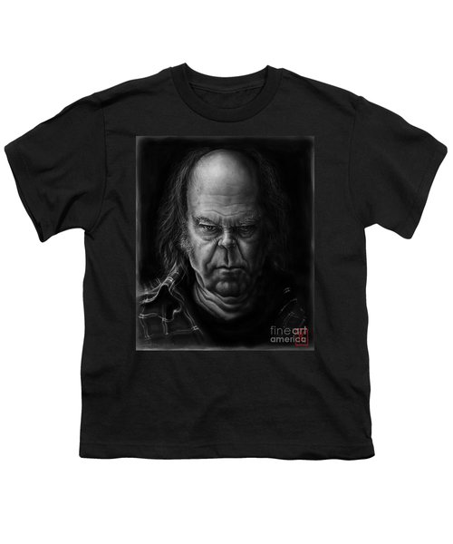 Neil Young Youth T-Shirt by Andre Koekemoer