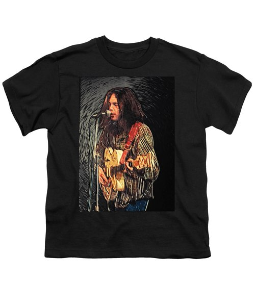 Neil Young Youth T-Shirt by Taylan Soyturk