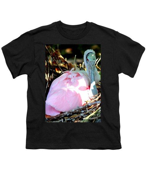 Nesting Spoonbill Youth T-Shirt by Carol Groenen
