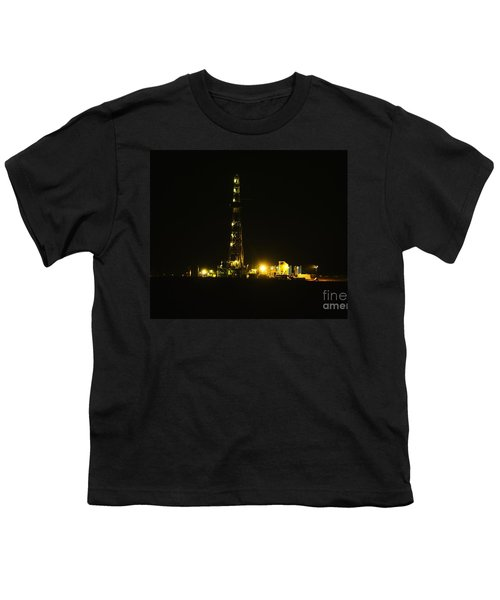 Oil Rig Youth T-Shirt by Jeff Swan