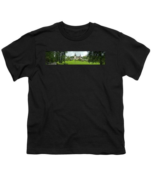 Peles Castle In The Carpathian Youth T-Shirt by Panoramic Images