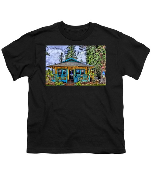 Pele's Lanai Island Hawaii Youth T-Shirt by DJ Florek