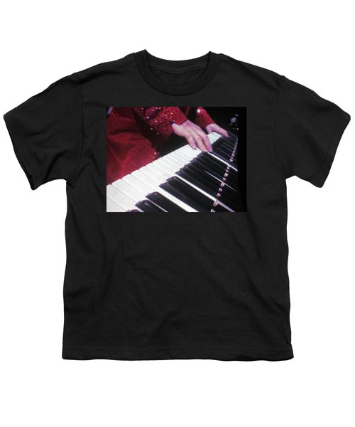 Piano Man At Work Youth T-Shirt by Aaron Martens