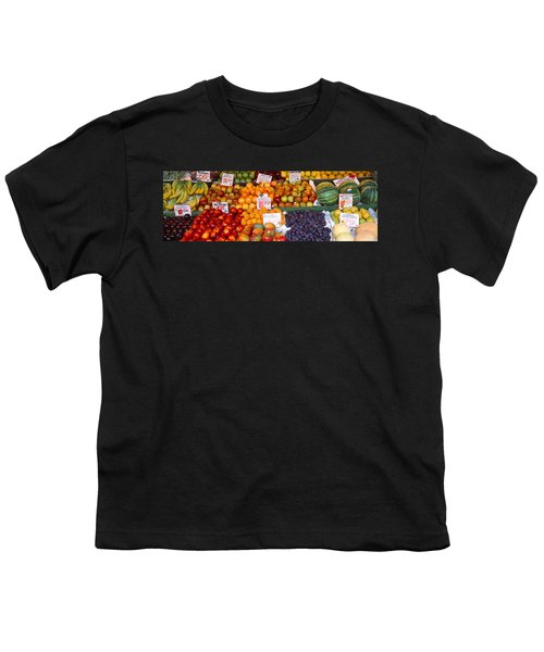 Pike Place Market Seattle Wa Usa Youth T-Shirt by Panoramic Images