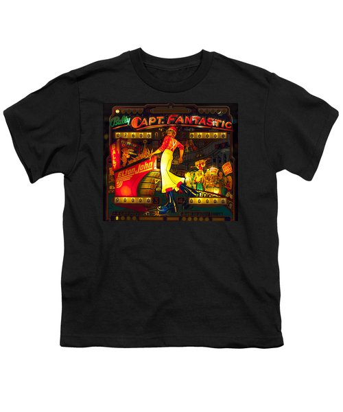 Pinball Machine Capt. Fantastic Youth T-Shirt by Terry DeLuco