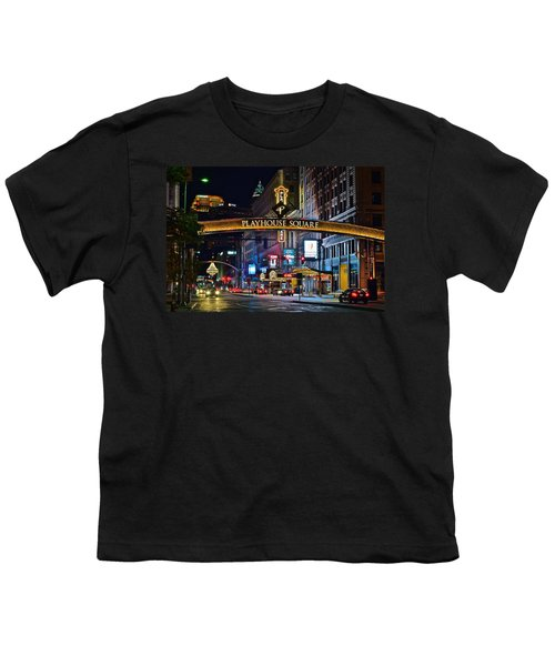 Playhouse Square Youth T-Shirt by Frozen in Time Fine Art Photography