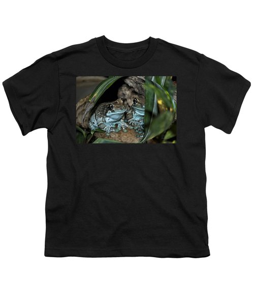 Poisonous Frogs With Sticky Feet Youth T-Shirt by Thomas Woolworth