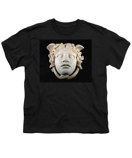 Rondanini Medusa, Copy Of A 5th Century Bc Greek Marble Original, Roman Plaster Youth T-Shirt by .