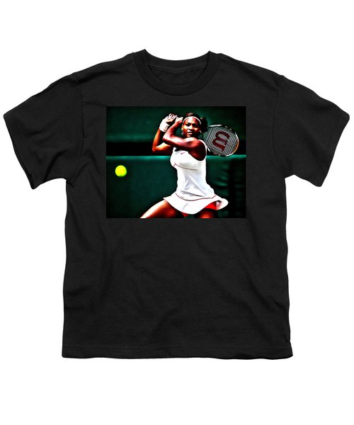 Serena Williams 3a Youth T-Shirt by Brian Reaves