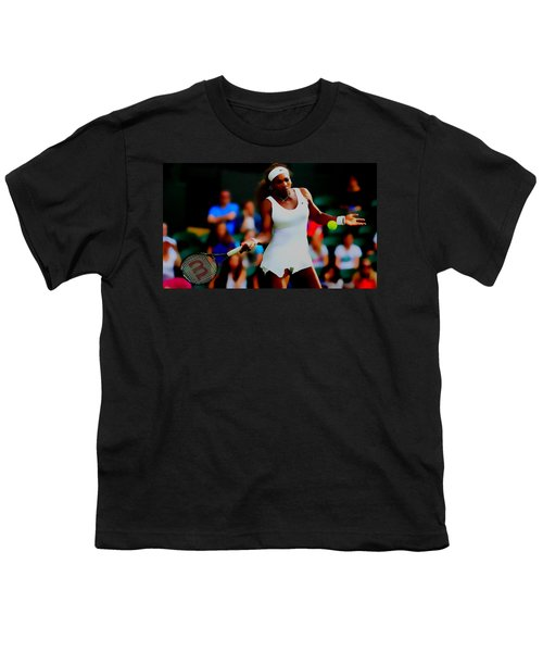 Serena Williams Making It Look Easy Youth T-Shirt by Brian Reaves