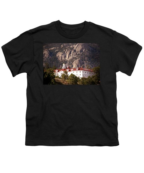 Stanley Hotel Estes Park Youth T-Shirt by Marilyn Hunt