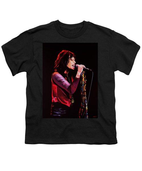 Steven Tyler In Aerosmith Youth T-Shirt by Paul Meijering