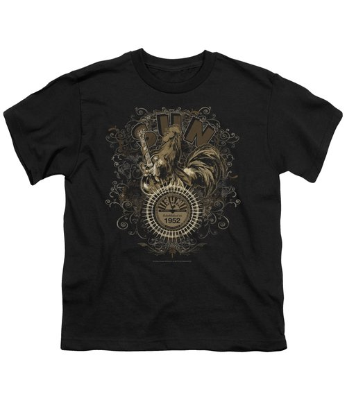 Sun - Scroll Around Rooster Youth T-Shirt by Brand A