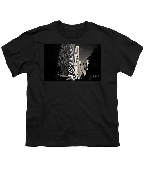 The Grace Building And The Chrysler Building - New York City Youth T-Shirt by Vivienne Gucwa