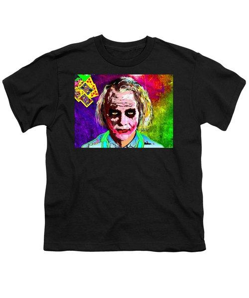 The Joker - Heath Ledger Youth T-Shirt by Daniel Janda