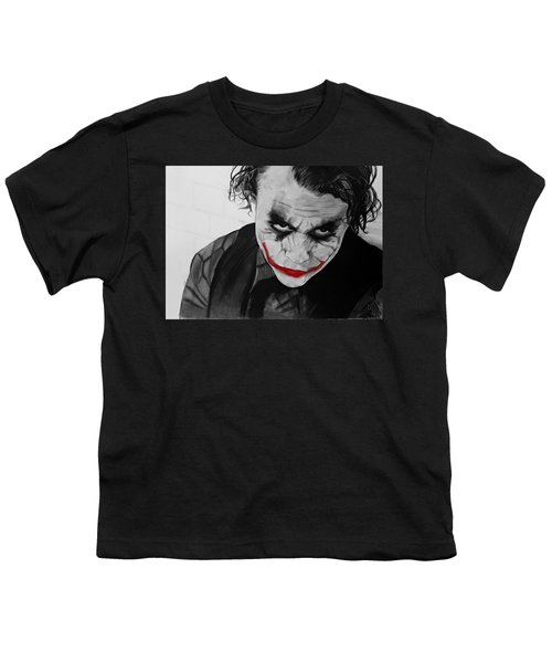 The Joker Youth T-Shirt by Robert Bateman