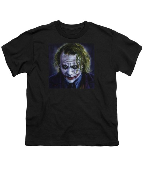 The Joker Youth T-Shirt by Tim  Scoggins